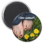 I love summer! fridge magnet