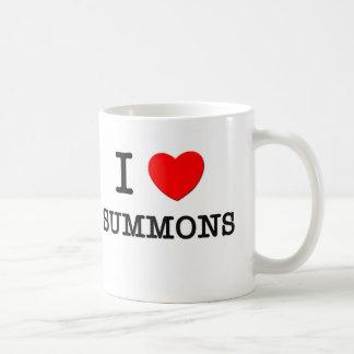 I Love Summons Coffee Mugs