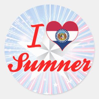 I Love Sumner, Missouri Round Stickers