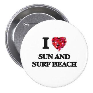 I love Sun And Surf Beach New York 7.5 Cm Round Badge