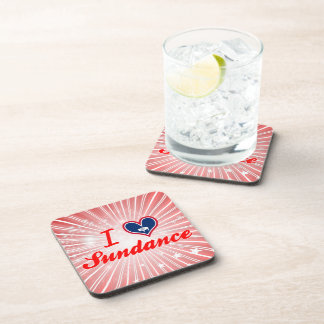 I Love Sundance Wyoming Beverage Coaster