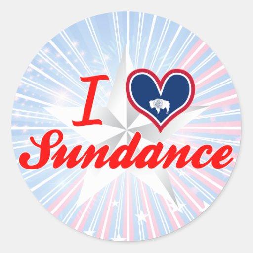 I Love Sundance, Wyoming Stickers