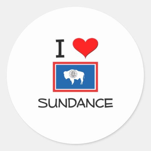 I Love Sundance Wyoming Round Stickers