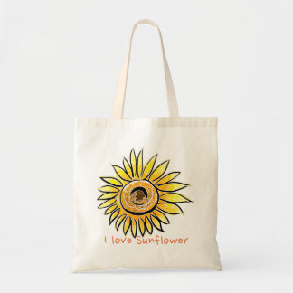 I love Sunflower Tote Bag
