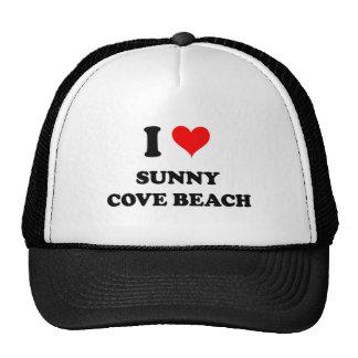 I Love Sunny Cove Beach California Hats