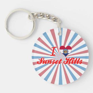 I Love Sunset Hills Missouri Acrylic Keychain