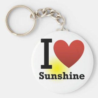 I Love Sunshine Basic Round Button Key Ring