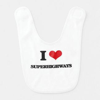 I love Superhighways Baby Bib