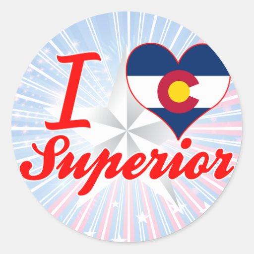 I Love Superior, Colorado Round Stickers