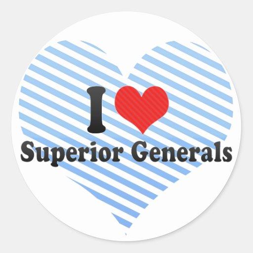 I Love Superior Generals Round Sticker