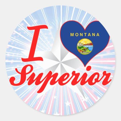 I Love Superior, Montana Sticker
