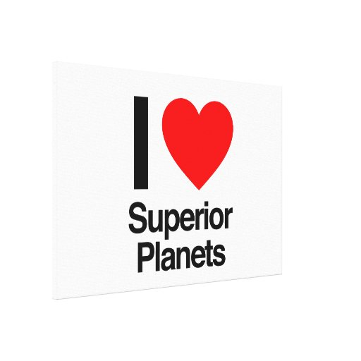 i love superior planets gallery wrap canvas