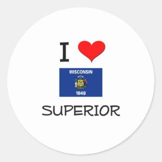 I Love Superior Wisconsin Stickers