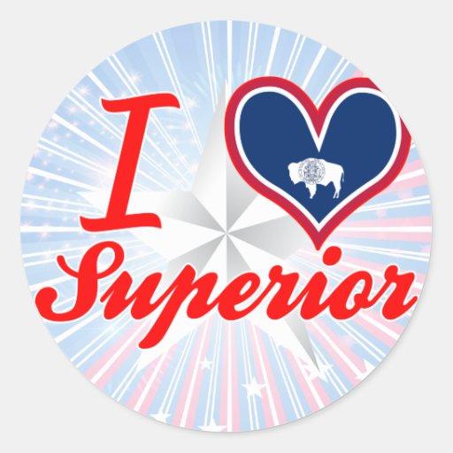 I Love Superior, Wyoming Round Sticker