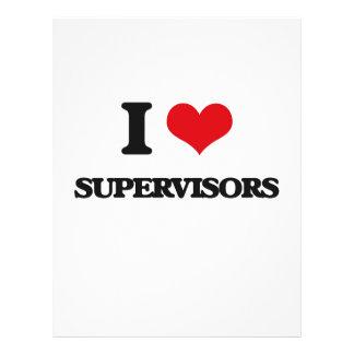 I love Supervisors 21.5 Cm X 28 Cm Flyer