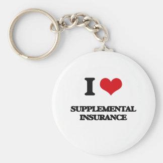I love Supplemental Insurance Basic Round Button Keychain