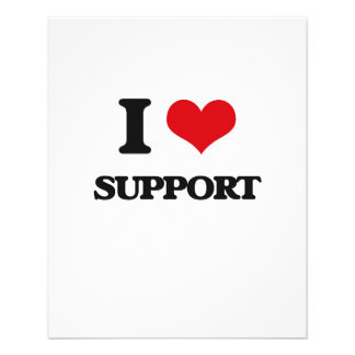 I love Support 11.5 Cm X 14 Cm Flyer