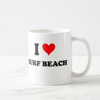 I Love Surf Beach California Coffee Mug