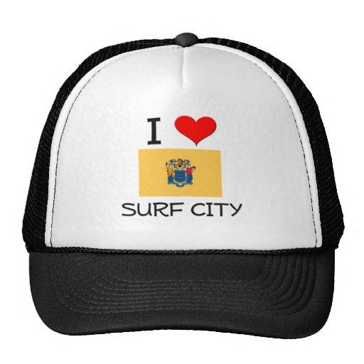 I Love Surf City New Jersey Trucker Hat