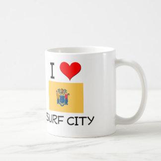 I Love Surf City New Jersey Coffee Mugs