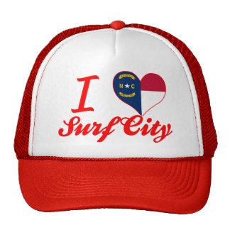 I Love Surf City, North Carolina Trucker Hat