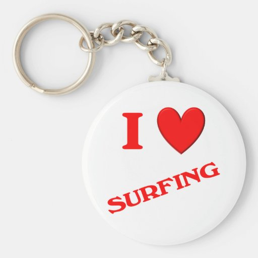 I Love Surfing Key Chains