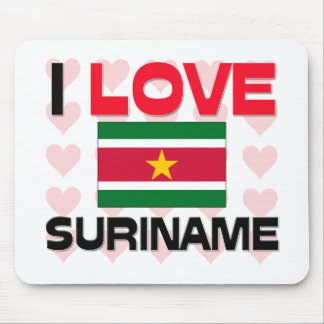 I Love Suriname Mouse Mat