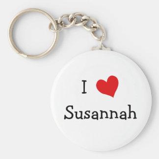 I Love Susannah Key Ring