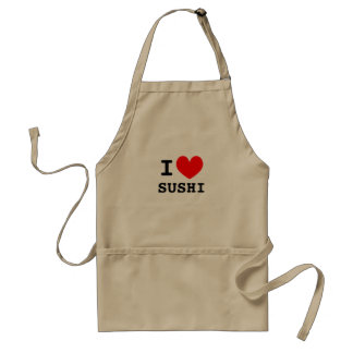 I love sushi food | Funny aprons for men and women