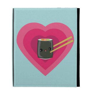 I Love Sushi Kawaii Sushi Roll iPad case