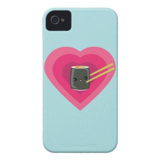 I Love Sushi Kawaii Sushi Roll iPhone case iPhone 4 Case-Mate Case