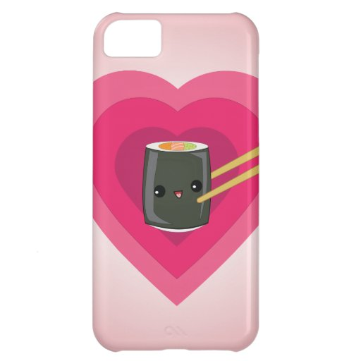 I Love Sushi Kawaii Sushi Roll iPhone Case Case For iPhone 5C