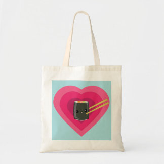 I Love Sushi Kawaii Sushi Roll Tote Bag