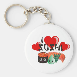 I Love Sushi Key Ring