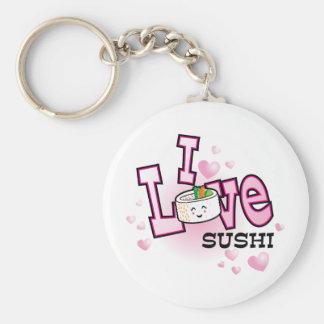 I love sushi key ring