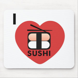 I Love Sushi Mouse Mat