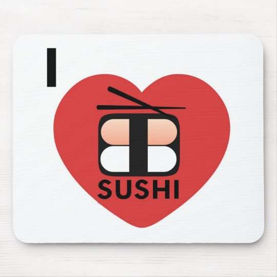 I Love Sushi Mouse Mat