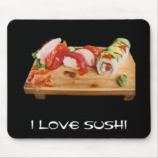 I Love Sushi Mouse Pad