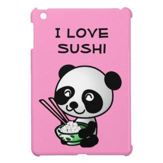 I Love Sushi Panda Bear Bowl Chopsticks Cute Pink iPad Mini Covers
