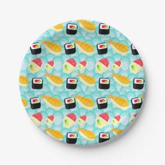 I love Sushi Paper Plate