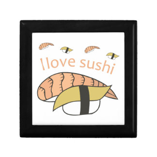 I Love Sushi Small Square Gift Box