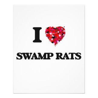I love Swamp Rats 11.5 Cm X 14 Cm Flyer