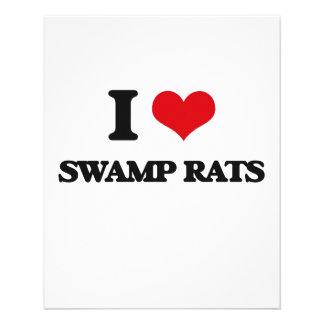 """I love Swamp Rats 4.5"""" X 5.6"""" Flyer"""