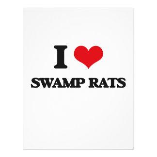 """I love Swamp Rats 8.5"""" X 11"""" Flyer"""