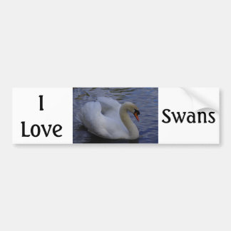 I Love Swans Bumper Sticker