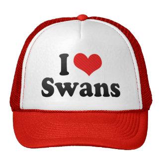 I Love Swans Trucker Hat
