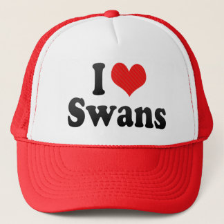 I Love Swans Trucker Hat