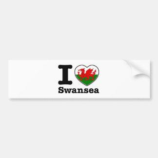 I love Swansea Bumper Stickers
