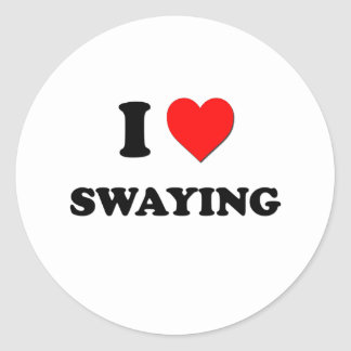 I love Swaying Round Sticker