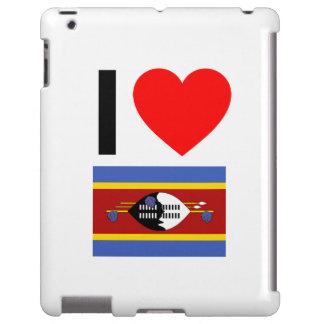 i love swaziland iPad case